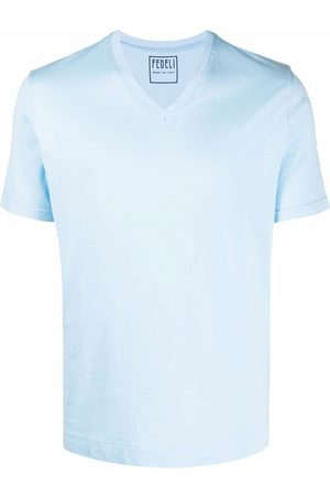 Fedeli V-neck plain T-shirt