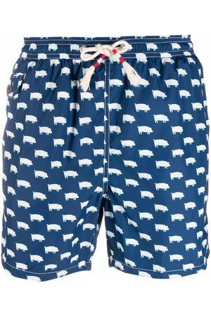 MC2 SAINT BARTH Pig-print swimming shorts