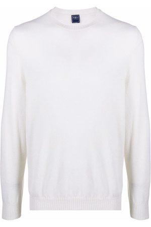 FEDELI Crewneck cashmere sweater - Neutrals