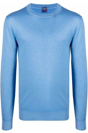 FEDELI Men Sweatshirts - Fine-knit crewneck sweater