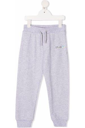 Kenzo Boys Sweatpants - Logo-print cotton track pants - Grey