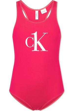 Calvin Klein Logo-print racerback swimsuit