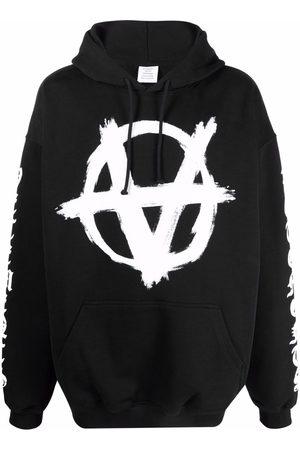 Vetements Logo-print pullover hoodie