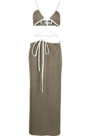 CHRISTOPHER ESBER Crossover-strap tie dress