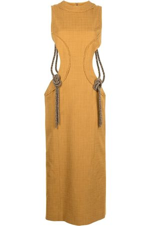 CHRISTOPHER ESBER Cut out-detail midi dress
