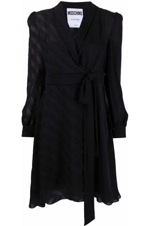 Moschino Gathered silk dress
