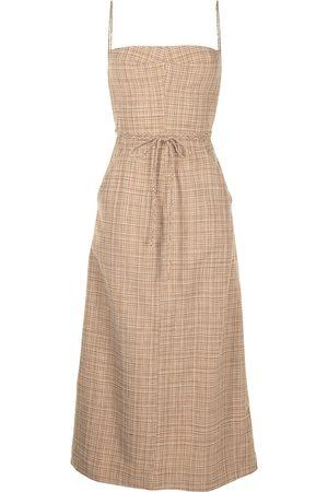 CHRISTOPHER ESBER Tie-fastening sleeveless midi dress