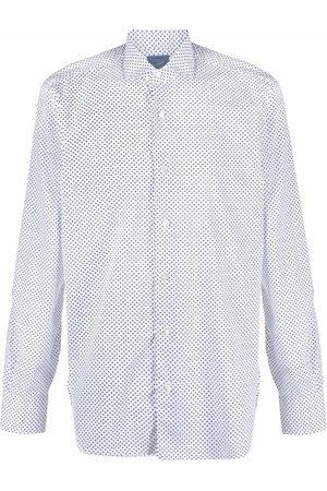 BARBA Polka-dot button down shirt
