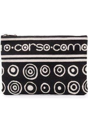 10 CORSO COMO Logo zipped clutch