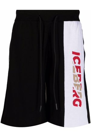 Iceberg Intarsia-knit logo track shorts