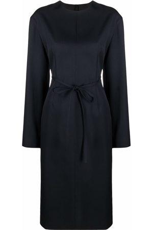 Jil Sander Women Dresses - Long-sleeved round neck dress