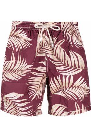 MC2 SAINT BARTH Palm-tree print swim shorts
