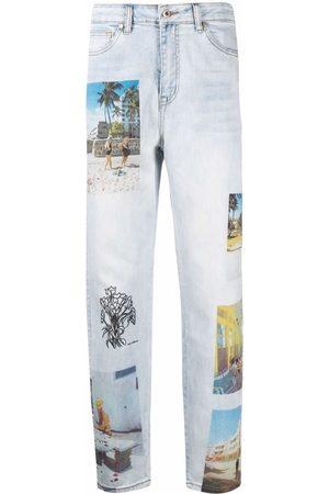 ESTEBAN CORTAZAR X Desigual South Beach-print straight jeans