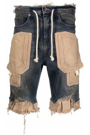VAL KRISTOPHER Men Shorts - Raw-cut panelled shorts