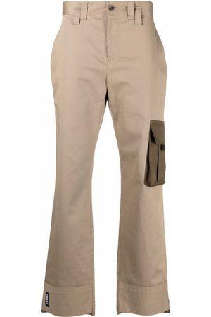 VERSACE Straight-leg trousers - Neutrals
