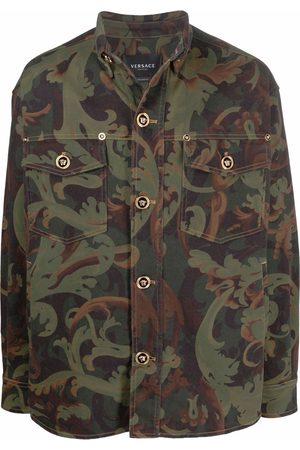 VERSACE Baroccoflage-print denim jacket