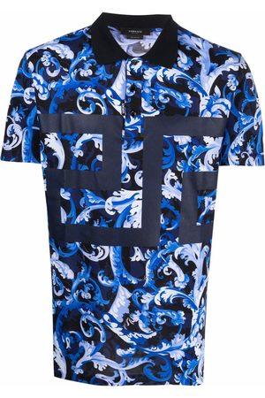 VERSACE Men Polo Shirts - Baroccoflage-print polo shirt