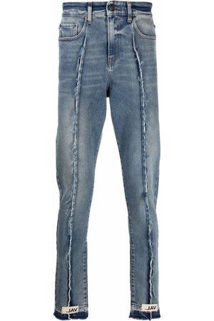 VAL KRISTOPHER Men Slim - Frayed detailing slim-legged jeans
