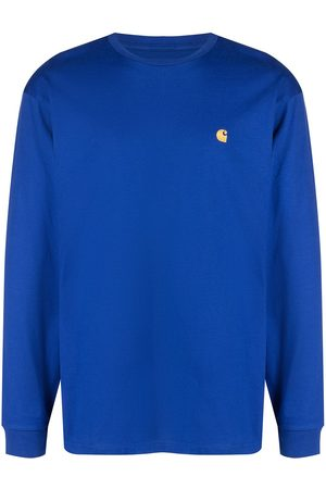 Carhartt Men Long Sleeve - Chase logo-embroidered long-sleeve top
