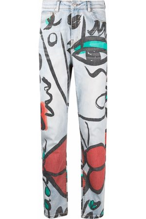 ESTEBAN CORTAZAR Straight - El beso-print straight jeans