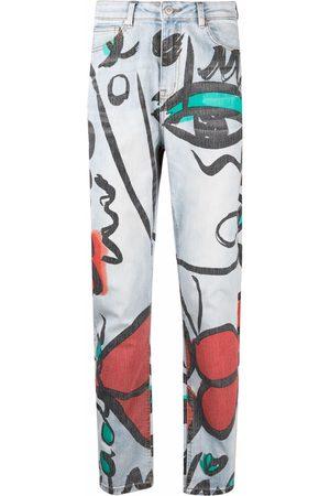 ESTEBAN CORTAZAR X Desigual El beso-print straight jeans