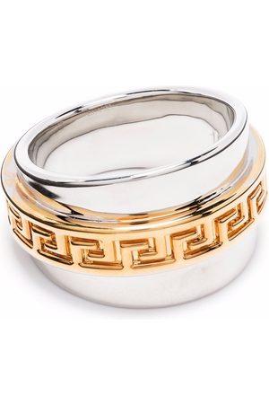 VERSACE Men Bracelets - Greca two-tone ring