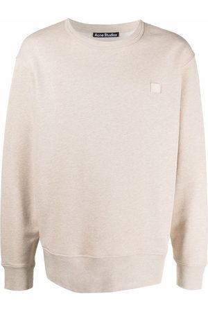 Acne Studios Face patch crew neck sweatshirt - Neutrals