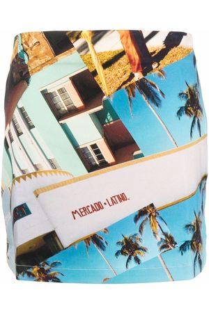 ESTEBAN CORTAZAR X Desigual South Beach-print mini skirt