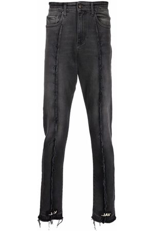 VAL KRISTOPHER Frayed detailing slim-legged jeans