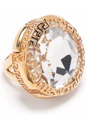 VERSACE Greca rhinestone-embellished ring