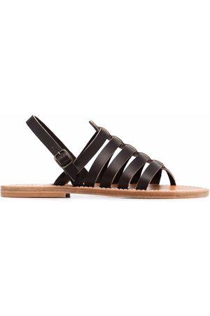 K jacques Slingback leather sandals