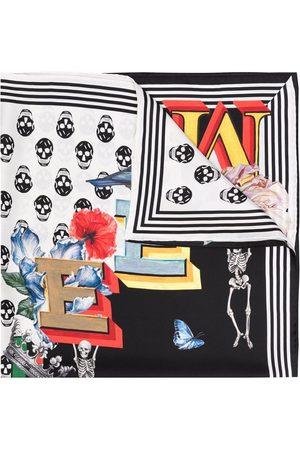 Alexander McQueen Skull-print silk scarf