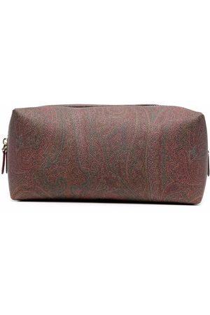 Etro Men Toiletry Bags - Paisley-print wash bag