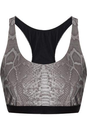 Koral Women Sports Bras - Snakeskin-print sports bra - Grey