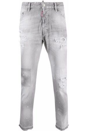 Dsquared2 Men Skinny - Patchwork skinny jeans - Grey