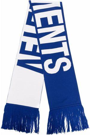 Vetements Men Scarves - Logo-intarsia merino knit scarf