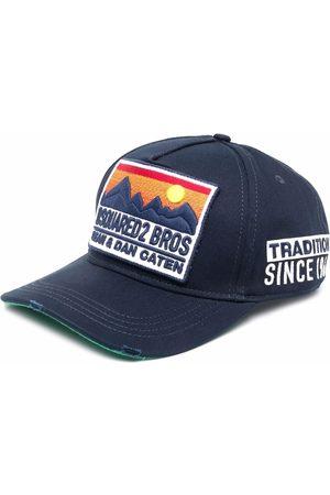 Dsquared2 Men Caps - Embroidered logo plaque distressed cap