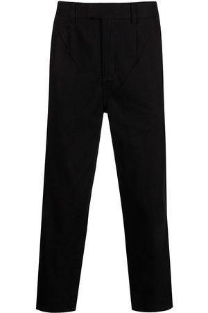KSUBI Cropped straight-leg cotton trousers