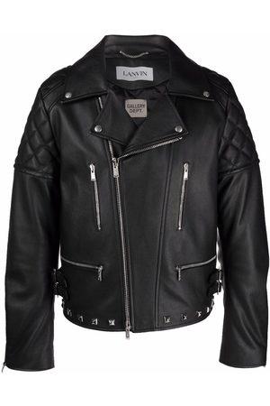 Lanvin X Gallery Dept. logo-patch biker jacket