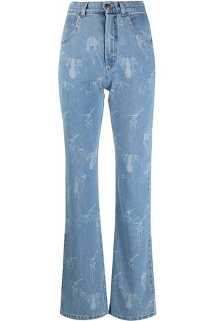 Seen Users Bow-detail flared jeans