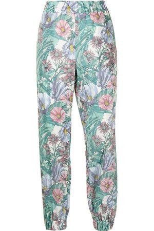 Tory Burch Women Sports Pants - Hibiscus-print trousers