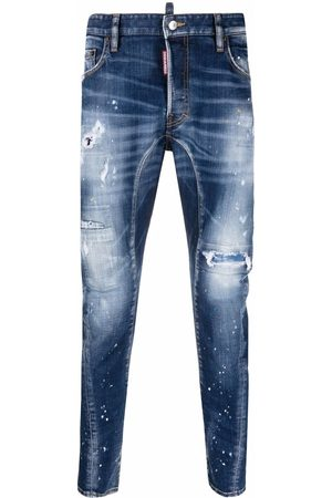 Dsquared2 Men Straight - Mid-rise distressed straight-leg jeans