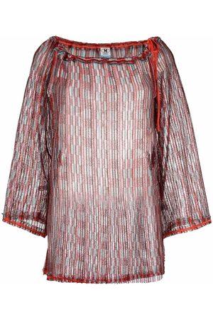 M Missoni Open-knit colour-block top