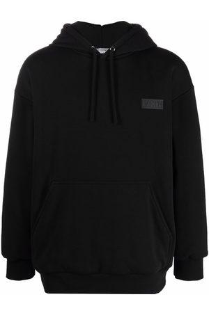 VALENTINO Men Hoodies - VLTN logo patch relaxed hoodie