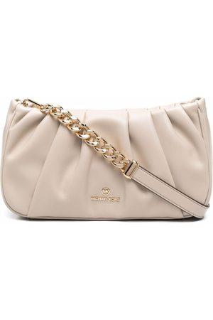 Michael Kors Hannah pleated clutch bag - Neutrals