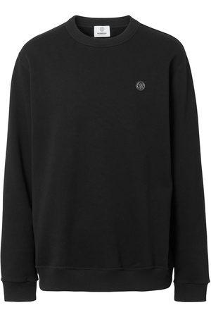Burberry Men Sweatshirts - Monogram-appliqué sweatshirt