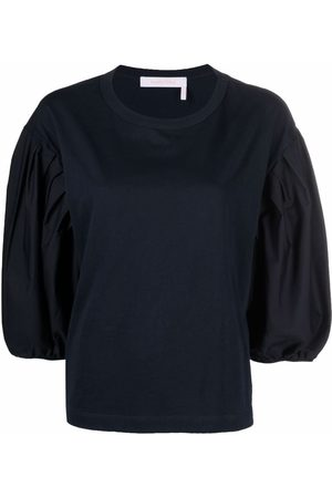 See by Chloé Puff-sleeve cotton T-shirt