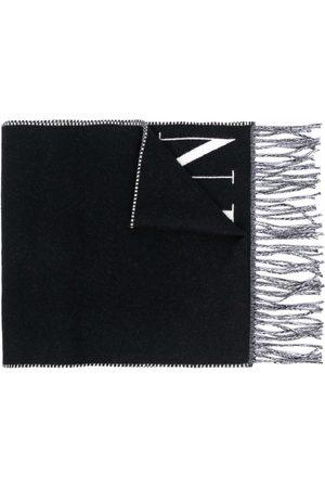 VALENTINO VLTN knitted logo scarf