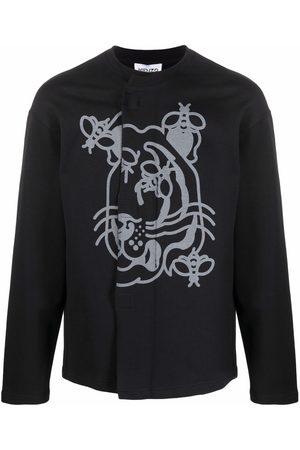 Kenzo Front-fastening Tiger sweatshirt