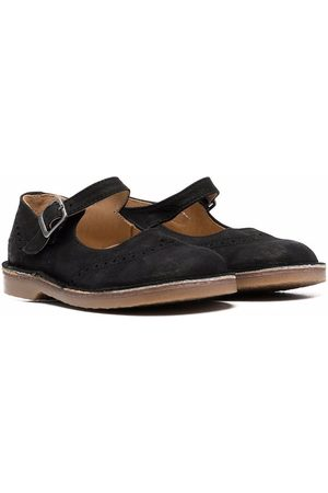 DOUUOD KIDS Round-toe leather ballerinas